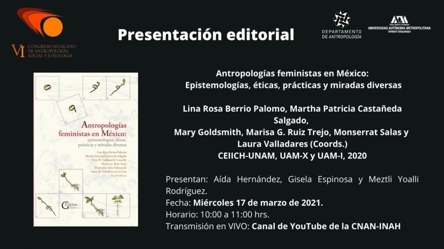Presentación del libro: Antropologías feministas en México: epistemologías, éticas, prácticas y miradas diversas